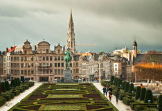 Houses of the famous Grand Place Royalty Free Stock Photo