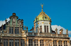 Houses of the famous Grand Place Stock Photos