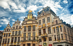Houses of the famous Grand Place Stock Photo