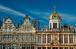 Houses of the famous Grand Place Stock Images