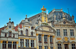 Houses of the famous Grand Place Royalty Free Stock Photos
