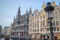 Houses of the famous Grand Place Royalty Free Stock Photography