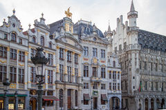 Houses of the famous Grand Place . Stock Images