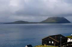 Houses in Faroe Islands Stock Photography