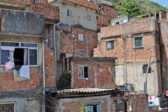 Houses in Favela Rocinha. Royalty Free Stock Images