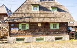 Houses for the film festival In Drvengrad Kusturica, Serbia royalty free stock images