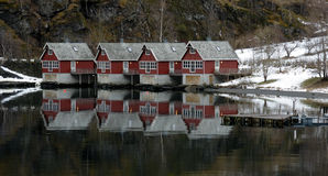 Houses of Flam, Norway Royalty Free Stock Image