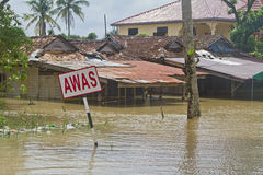 Houses in Flood Stock Photography