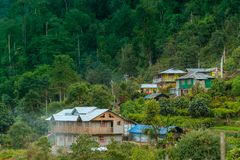 Silerygaon Village, Sikkim Royalty Free Stock Photography