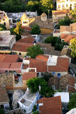 Houses at the foothill of Acropolis, Athens stock photography
