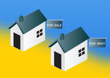 Houses For Sale And Rent Stock Photo