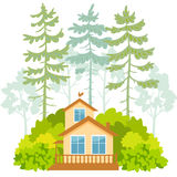 Houses and forest Stock Photos