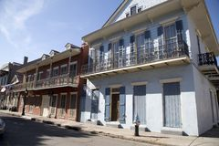 Houses in French Quarter New Orleans Louisiana USA.  stock photos