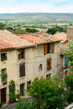 Houses in the French village Murviel-les-Beziers royalty free stock image