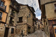 Houses in Frias Royalty Free Stock Photos