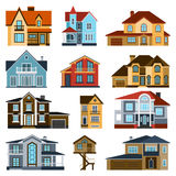 Houses front view vector illustration Stock Image