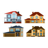 Houses front view vector illustration Royalty Free Stock Images