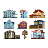 Houses front view vector illustration Stock Images