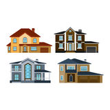 Houses front view vector illustration Royalty Free Stock Photography