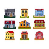 Houses front view vector illustration Stock Photography