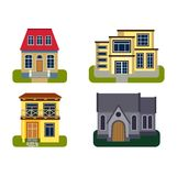 Houses front view vector illustration Stock Photo