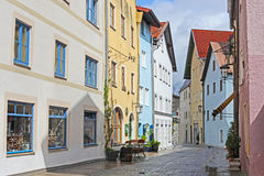 Houses in Fussen Royalty Free Stock Photography