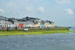Houses at Galway Harbor Stock Photography