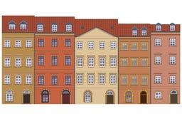 houses gammalt stock illustrationer