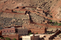 Houses with garden slope, Morocco Stock Photo