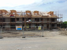 Construction of Houses in Ireland stock photography