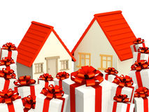 Houses and gifts Royalty Free Stock Photo