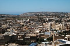 Malta and Gozo 2018. Houses of Gozo, cityscape from above Stock Photography