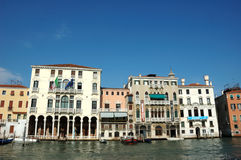 Houses on the grand canal in Venice Royalty Free Stock Photography