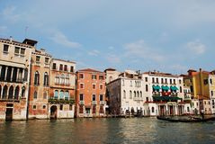 Houses on Grand Canal, Venice Royalty Free Stock Images