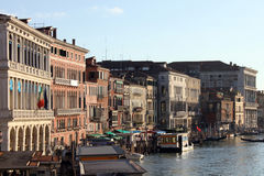 Houses and Grand Canal in Venice, Italy. Photo taken in 2014, september Royalty Free Stock Photos