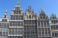 Houses at the Great Market Square of Antwerp Royalty Free Stock Images