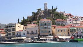 Houses at Greece Islands stock footage
