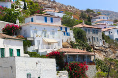 Houses in Greece Islands Stock Photos