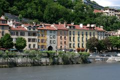 Houses in Grenoble Royalty Free Stock Photo