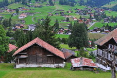 Houses in Grindelwald Stock Photography