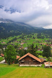 Houses in Grindelwald Royalty Free Stock Photos