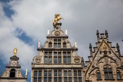 Houses on Grote Markt - Big Market Square in the Antwepen Royalty Free Stock Photos