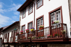 Houses in Guimaraes stock photography