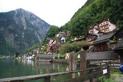 Houses in Hallstatt stock photos