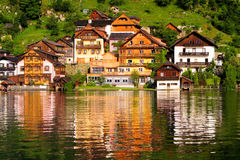 Houses of Halstatt, Austria Royalty Free Stock Photos