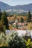 Houses in Hanmer Springs Stock Image