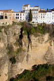 Houses on Cliff in Ronda Stock Photos