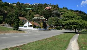 Houses on a hill Stock Images