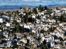Houses on the hill. Mediteranean houses on the hill Royalty Free Stock Photography