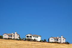 Houses on a hill Royalty Free Stock Image